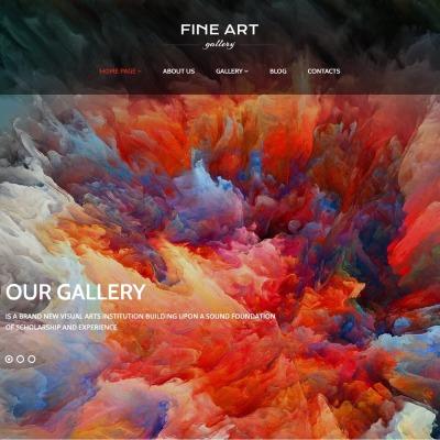 Art Gallery Responsive WordPress Theme #56092