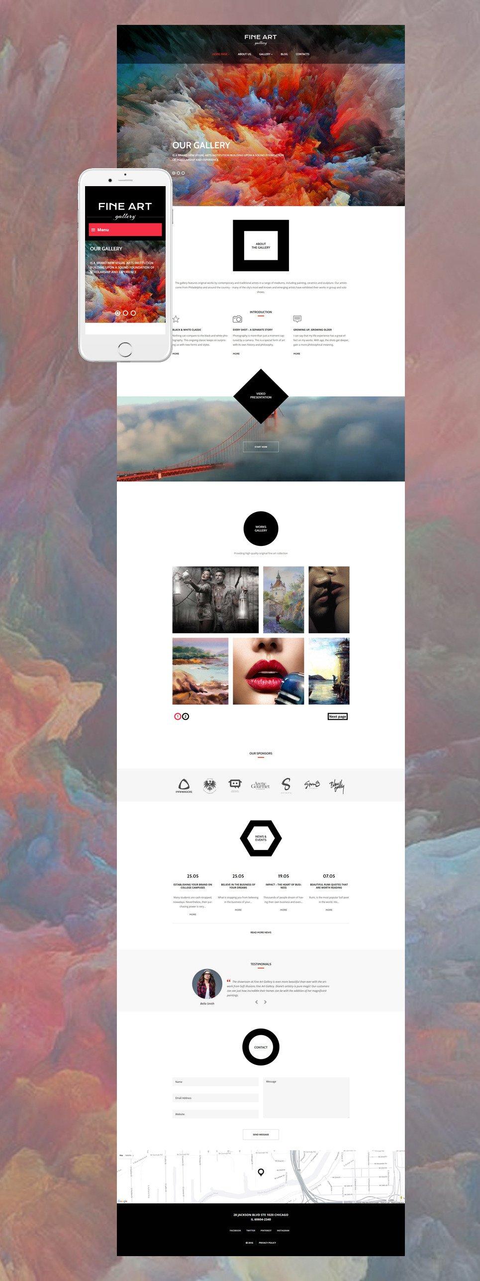 Art Gallery Responsive WordPress Theme New Screenshots BIG