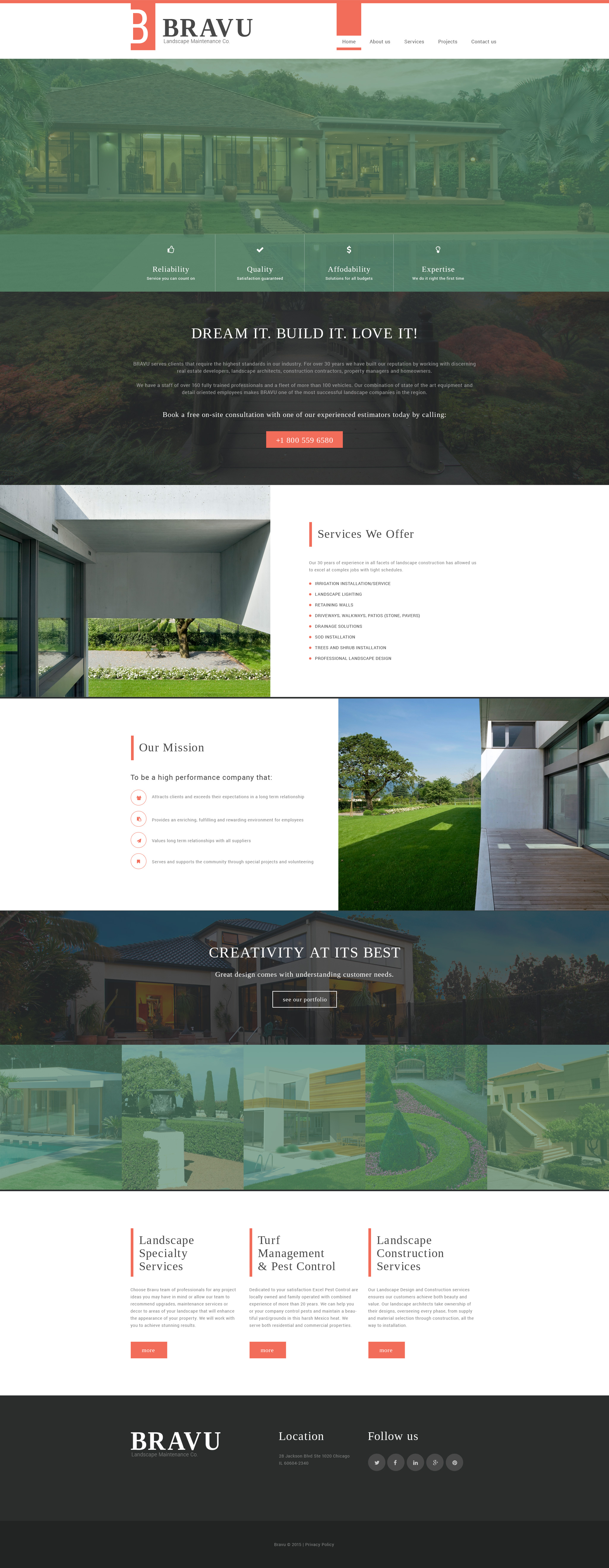 """Bravu"" Responsive Website template №56021"