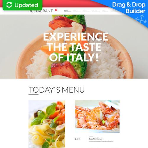 Restaurant - MotoCMS 3 Template based on Bootstrap
