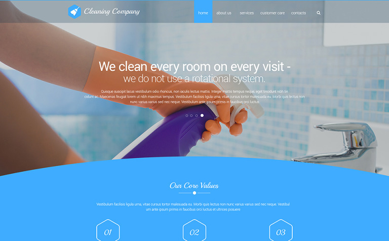 cleaning solution website template new screenshots big