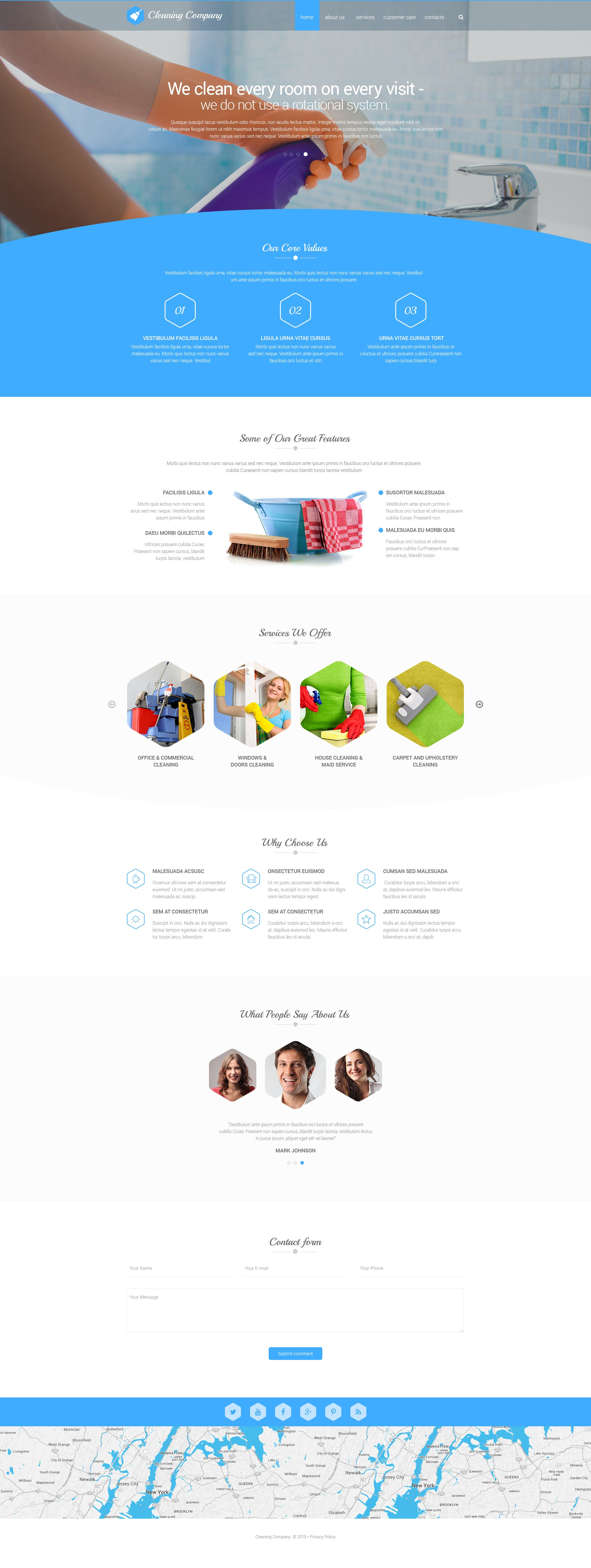Cleaning Solution Website Template