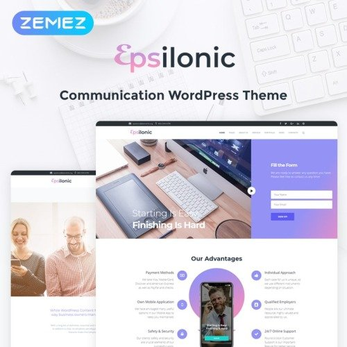 Communication - WordPress Template based on Bootstrap