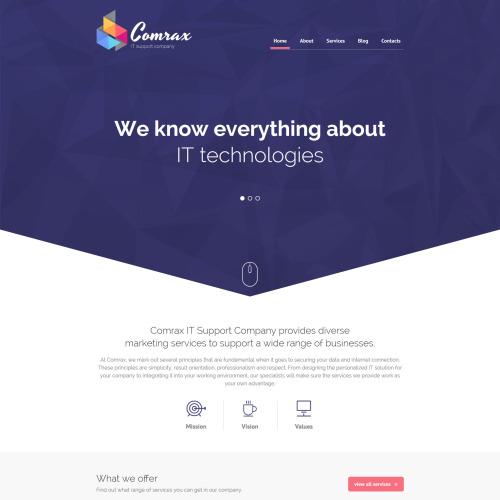 Comrax - HTML5 Drupal Template