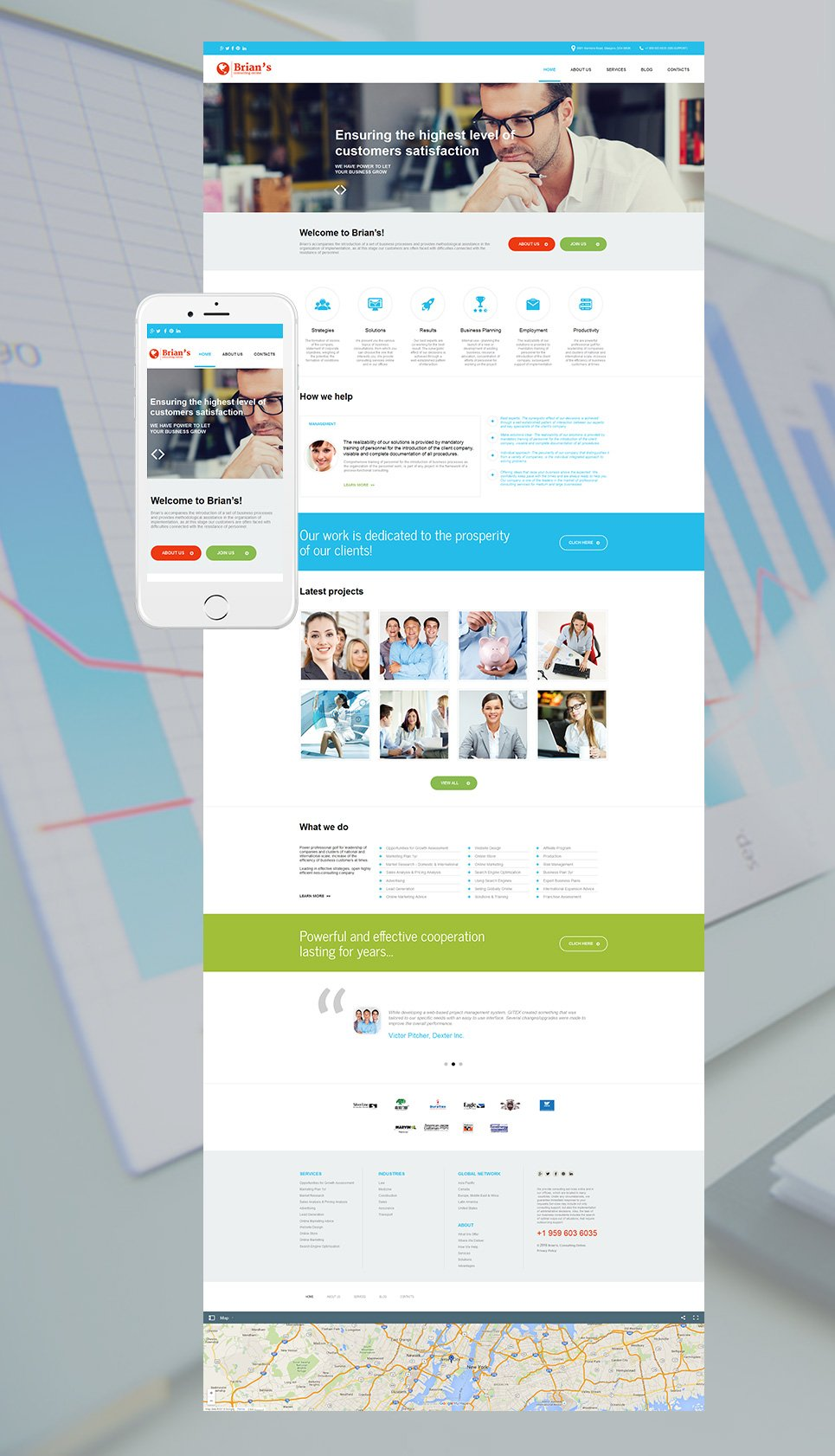 Consulting Moto Cms Html Template 56089