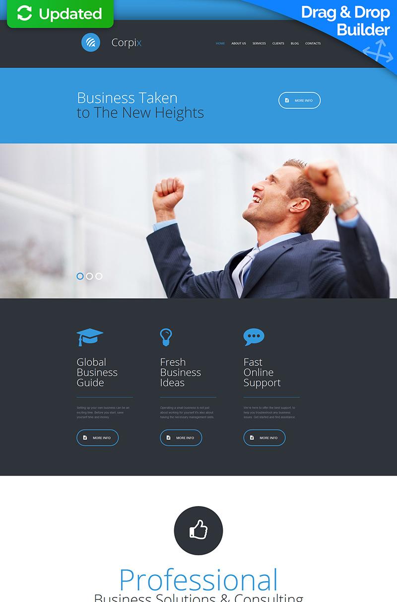 Consulting Responsive Moto CMS 3 Template - screenshot