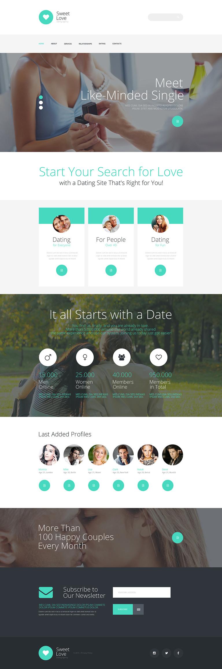 Dating Responsive Website Template New Screenshots BIG