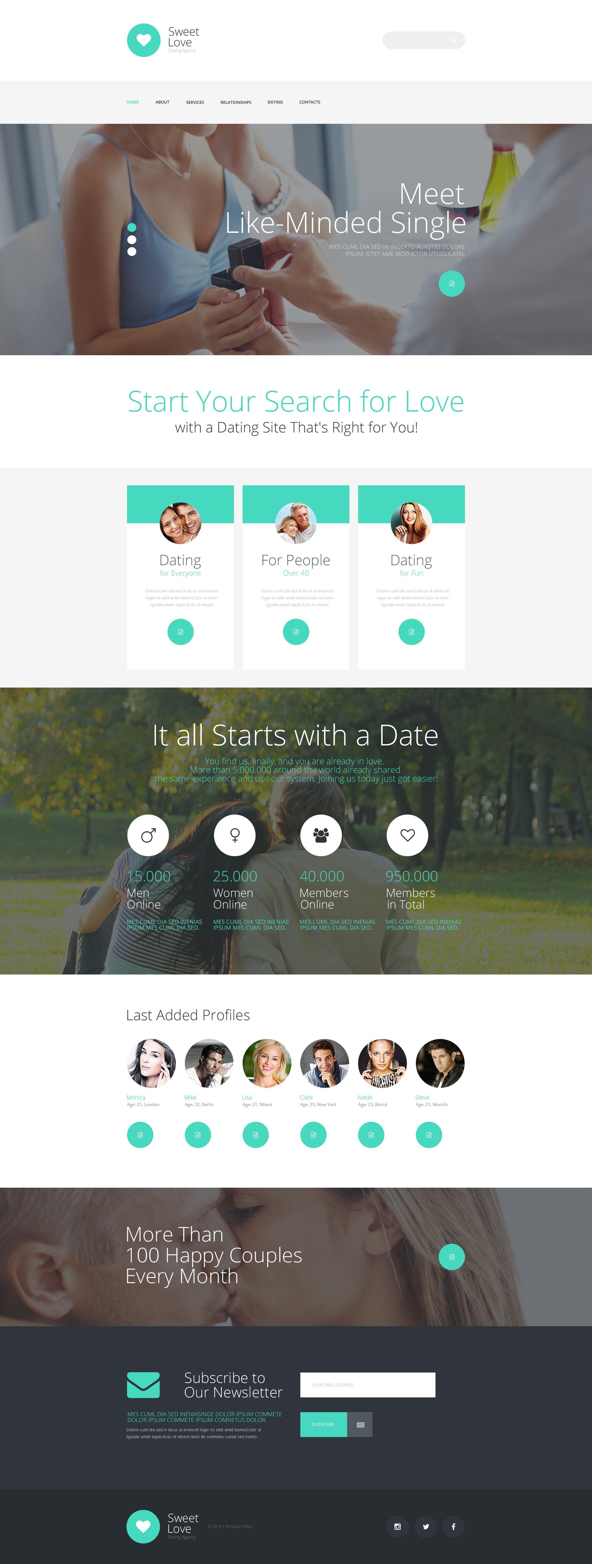 Dating Responsive Website Template - screenshot