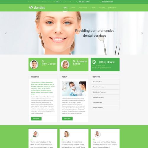 Dentist - MotoCMS 3 Template based on Bootstrap