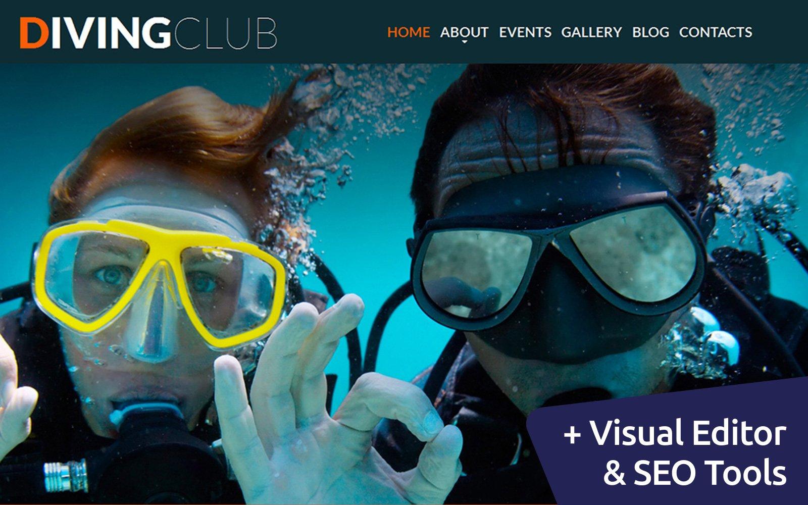 """Diving Club"" - адаптивний MotoCMS 3 шаблон №56059"