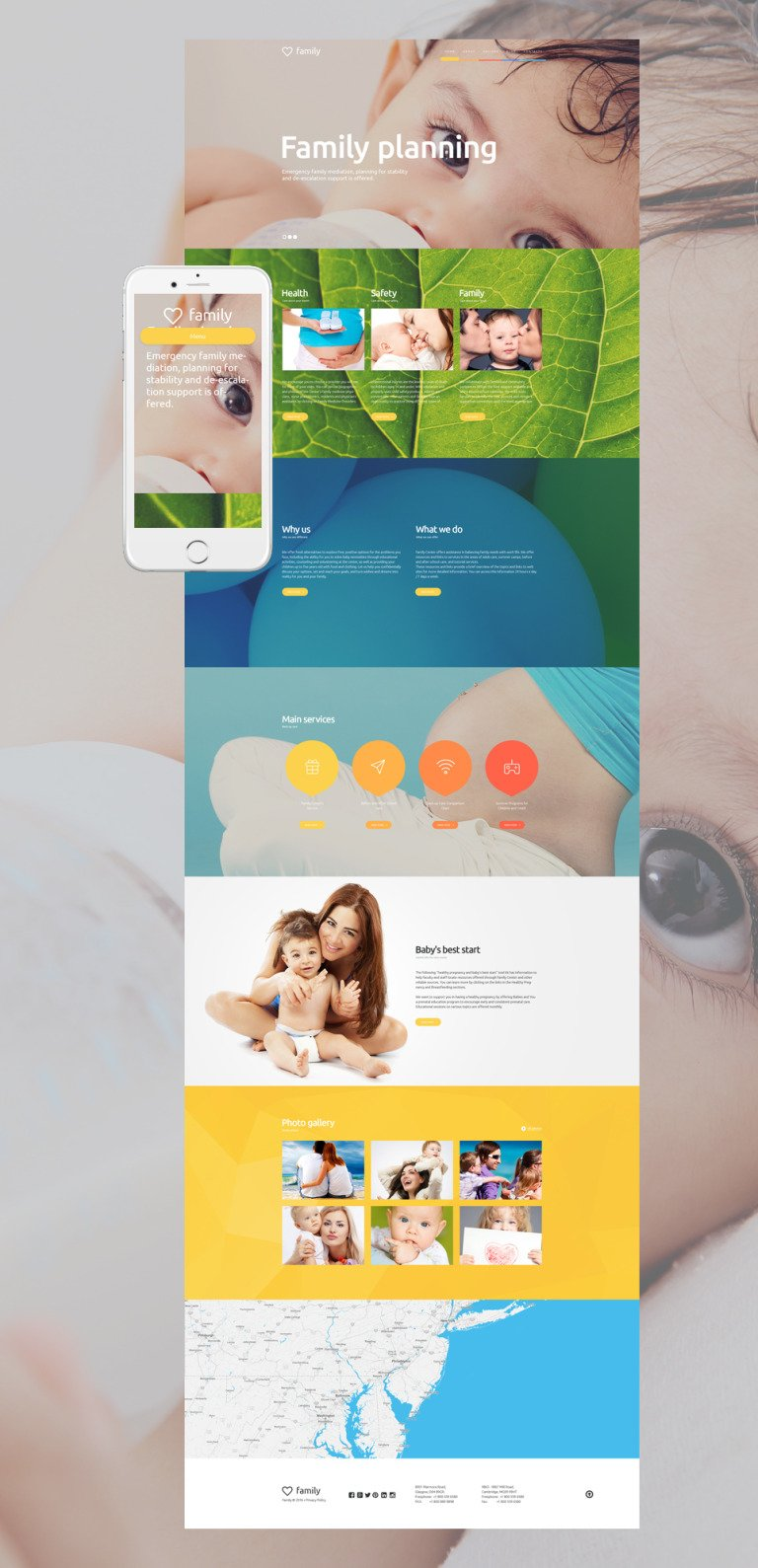 Family Planning WordPress Theme New Screenshots BIG