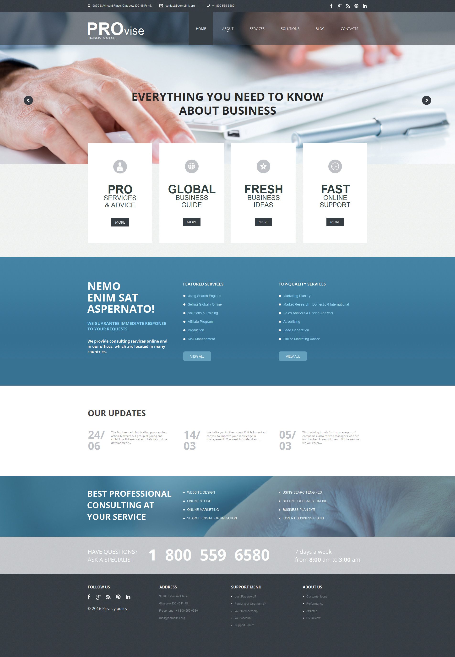 Financial Advisor Moto CMS HTML Template