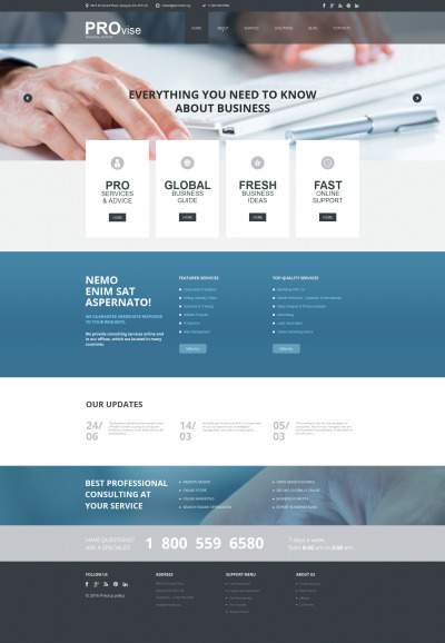 Financial Advisor Moto CMS HTML Template #56086