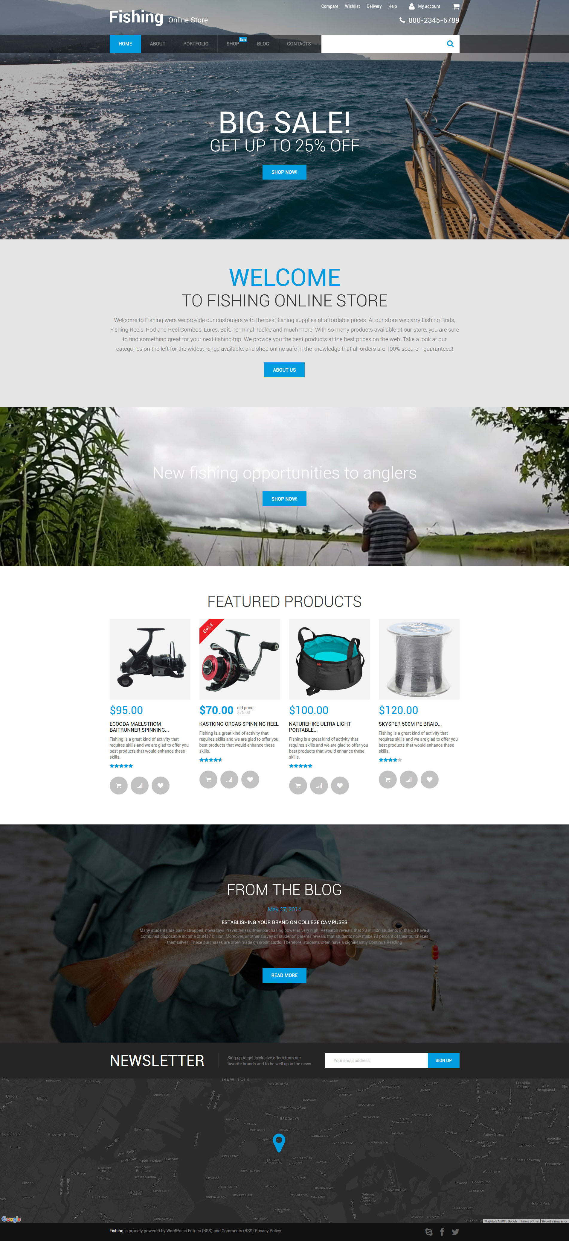 """Fishing Online Store"" WooCommerce Thema №56017"