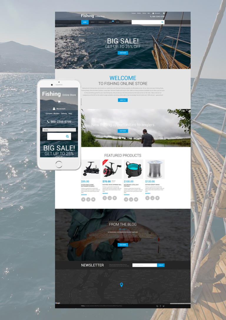 Fishing Online Store WooCommerce Theme New Screenshots BIG