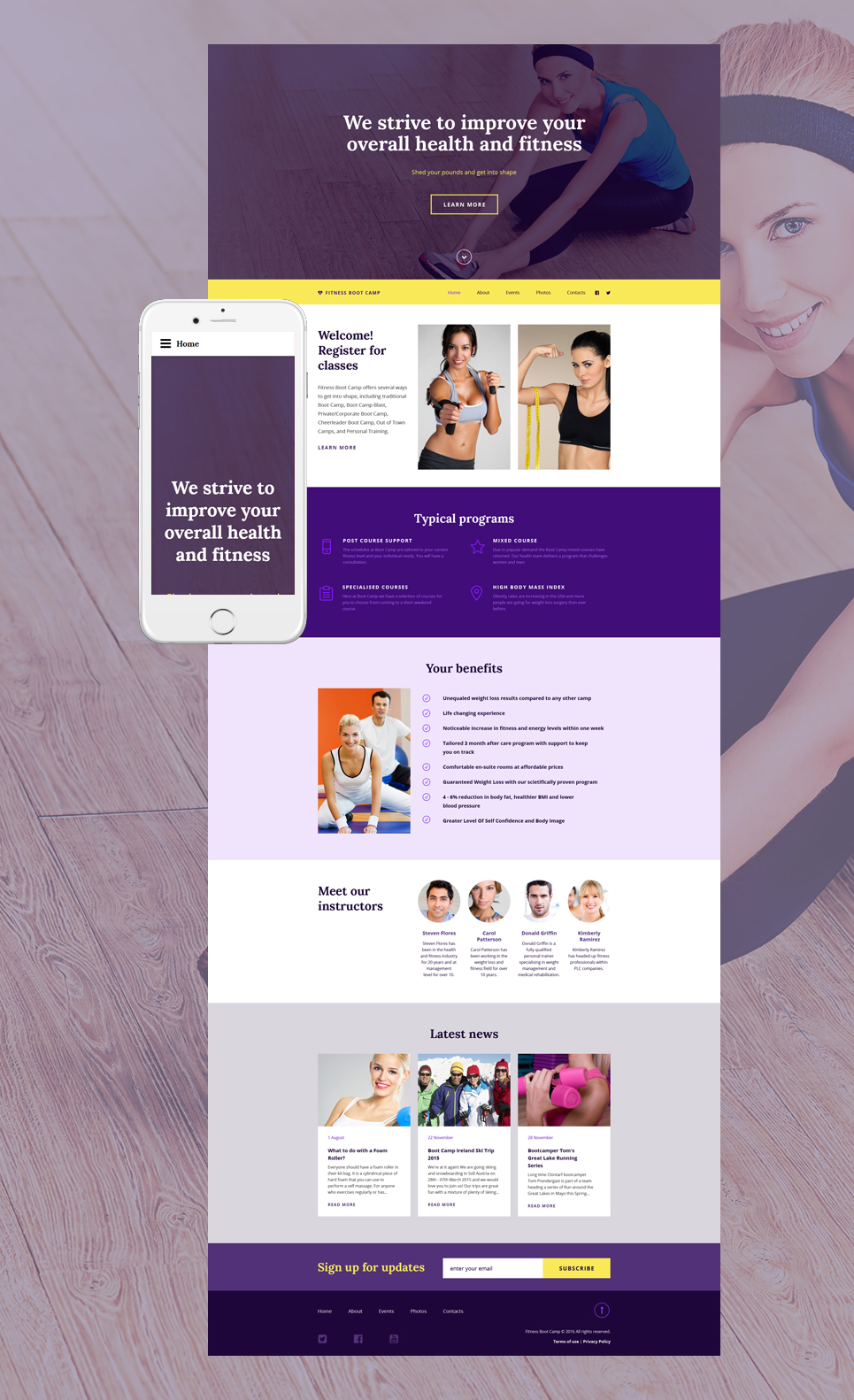 Fitness site template pronofoot35fo Choice Image