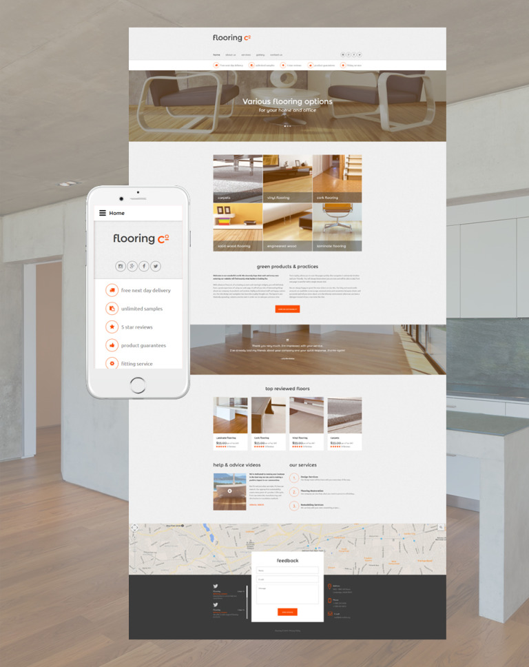 Flooring Co. Website Template New Screenshots BIG