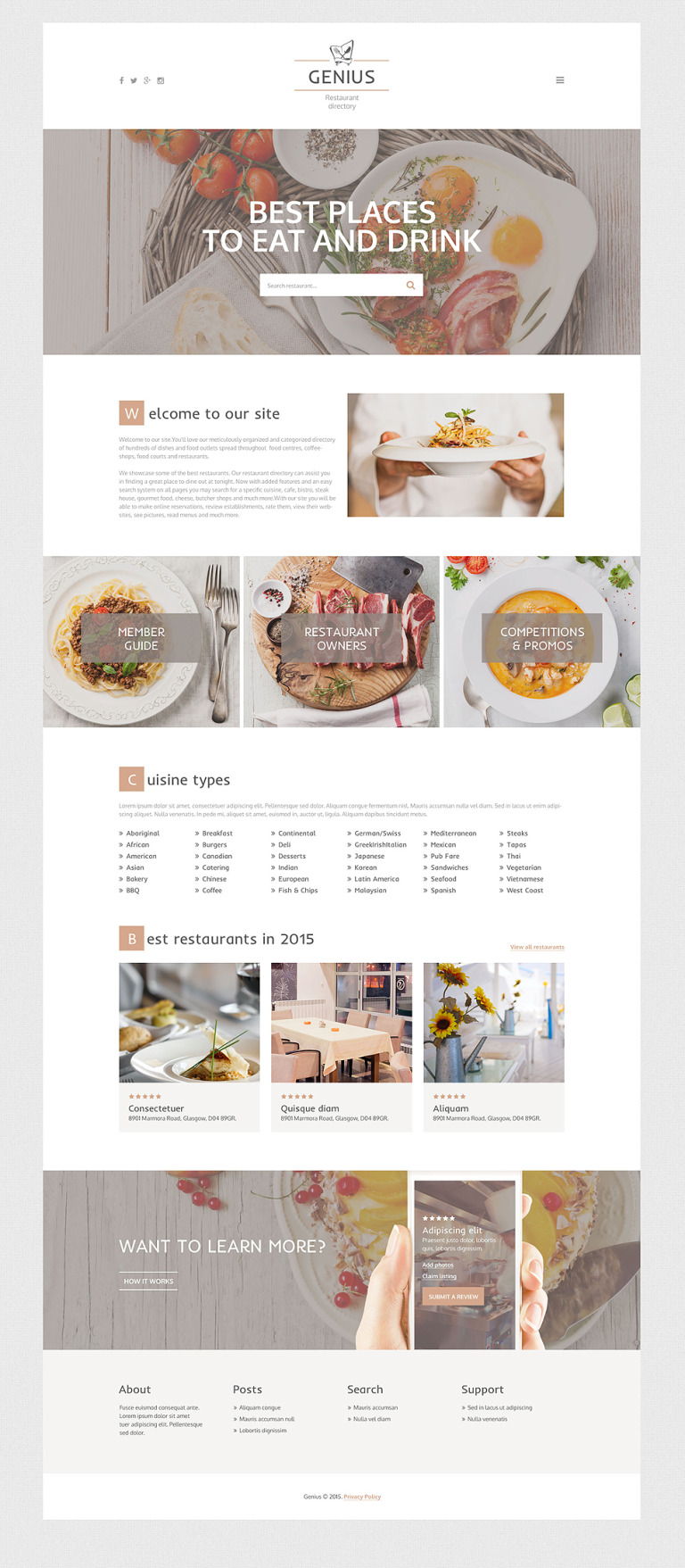 Genius Website Template New Screenshots BIG