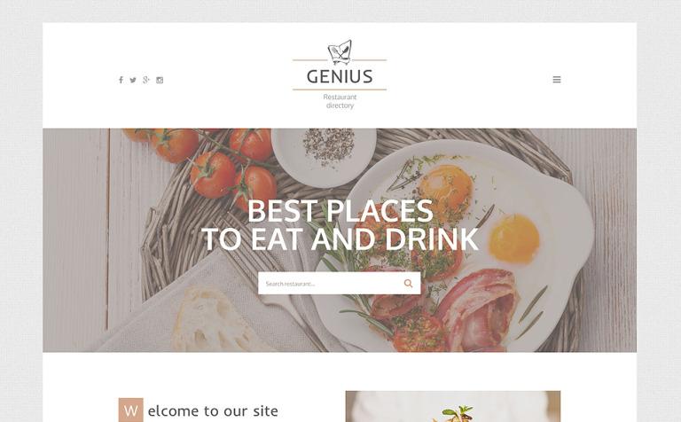 Genius Website Template