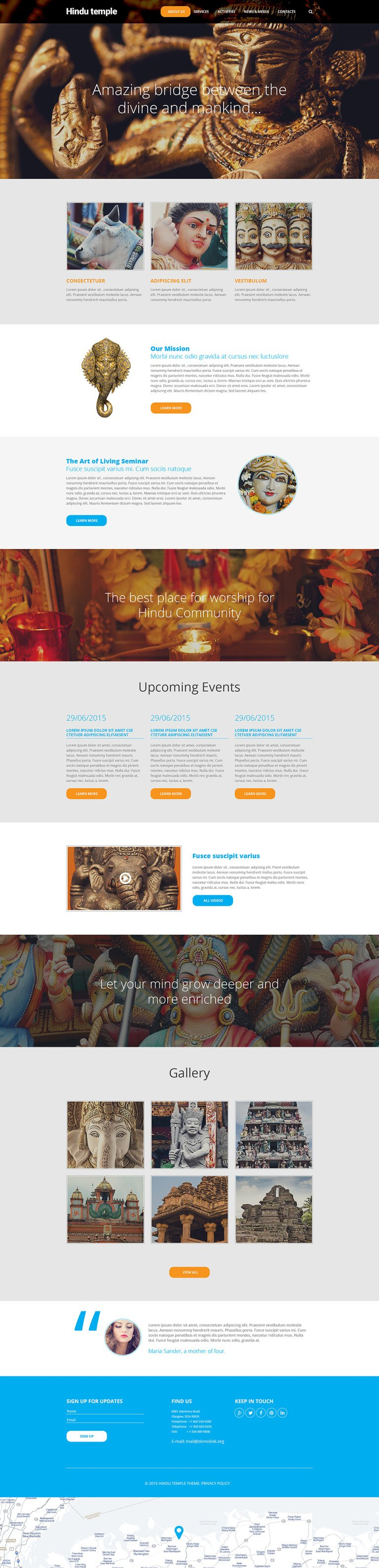 Hindu Temple Website Template New Screenshots BIG
