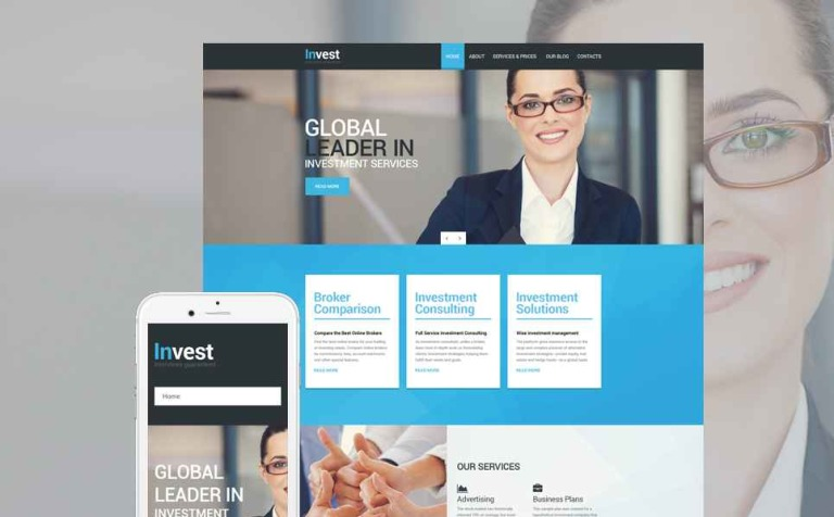 Invest Drupal Template