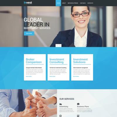 Flexível template Drupal №56069 para Sites de Empresa de Investimentos
