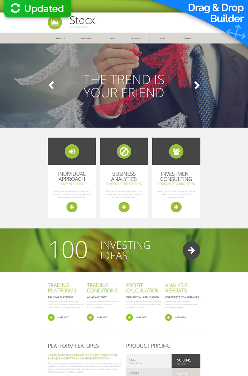 Investment Company Responsive Moto CMS 3 Template - screenshot