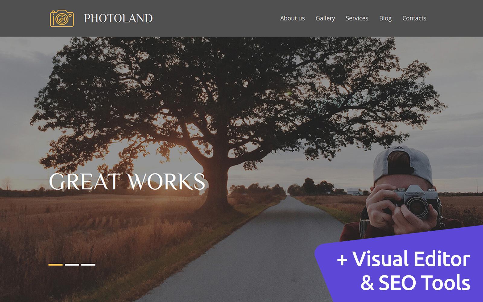 """Luxusní Šablona Fotogalerie """"Wedding Photography"""" #56009"""