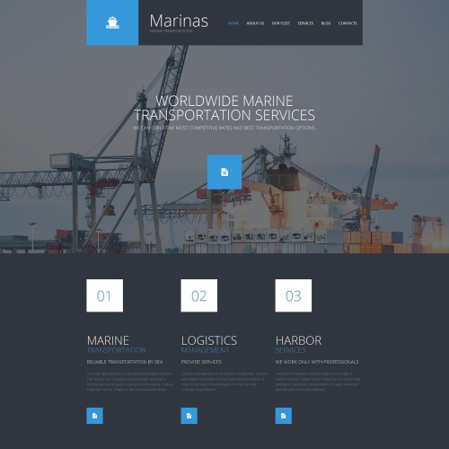 Marinas - MotoCMS 3 Template based on Bootstrap