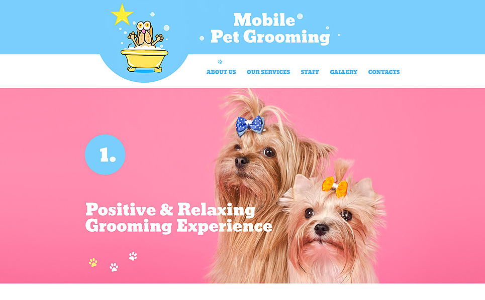 Pet carer website template for Minimalist living with pets