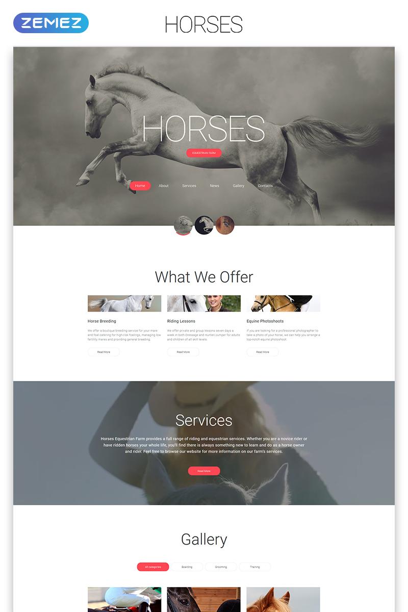 "Modello Siti Web Responsive #56066 ""Horses - Horse Responsive Creative HTML"""