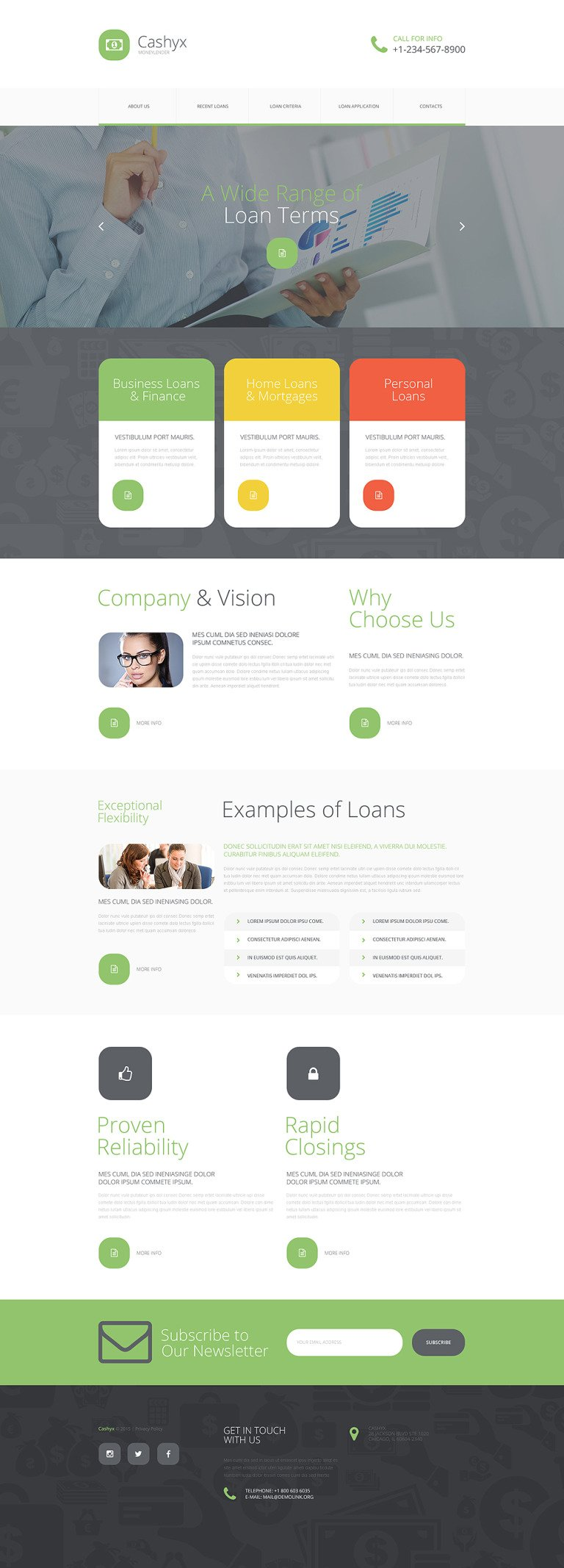 Money Lander Website Template New Screenshots BIG