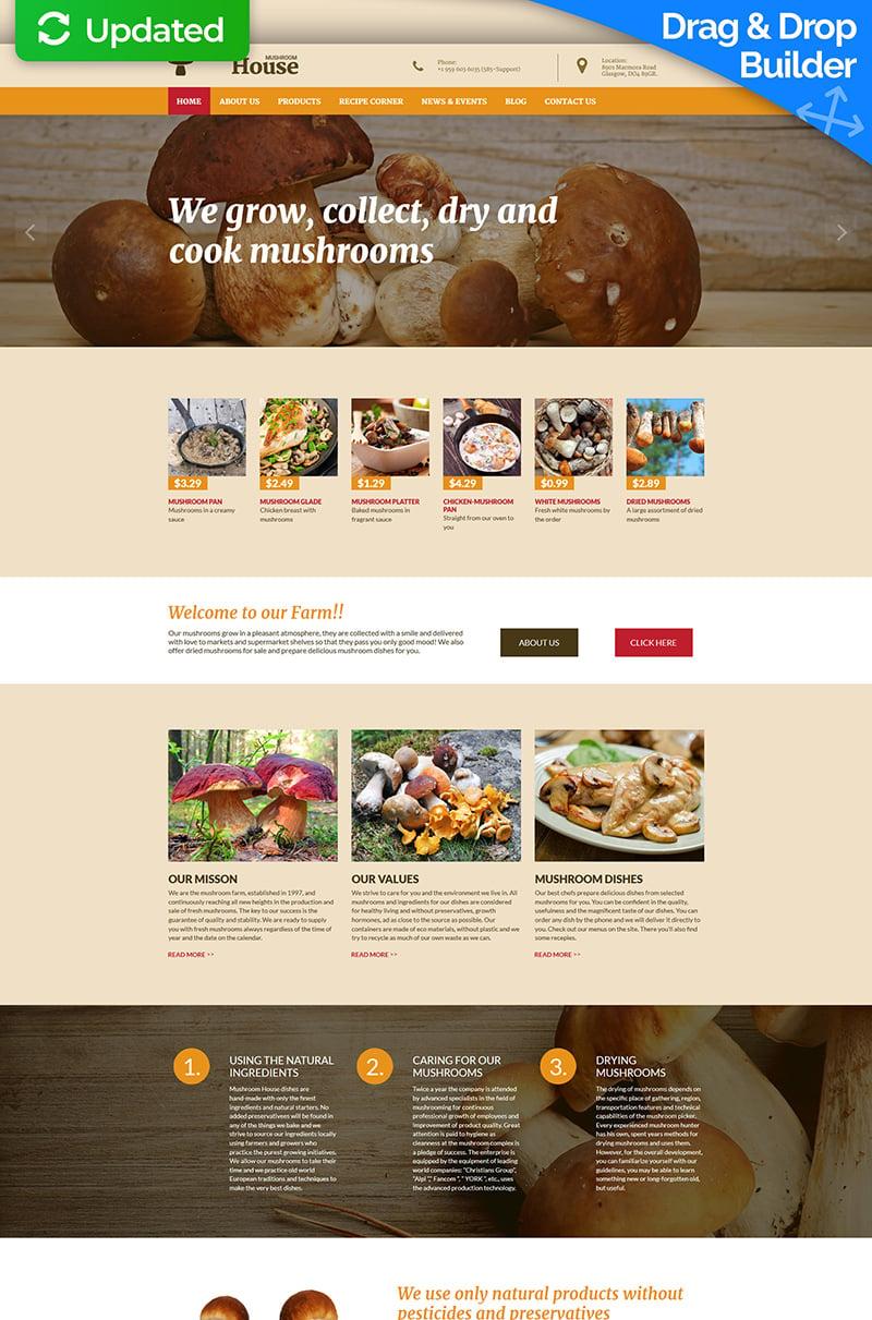 Mushroom Farm Moto CMS 3 Template