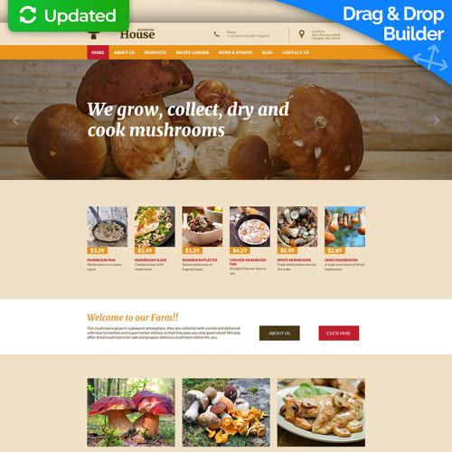 Mushroom House - MotoCMS 3 Template based on Bootstrap