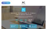 """""""PC - Computer Repair Clean HTML"""" modèle  de page d'atterrissage adaptatif"""