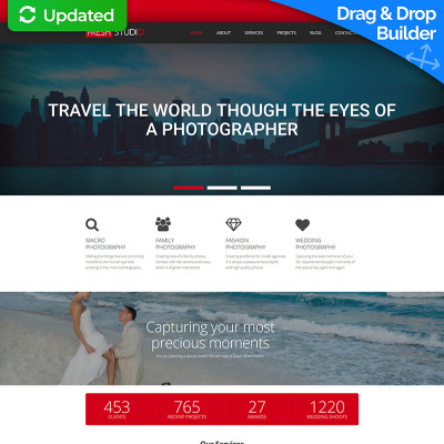 Photo Studio Responsive Photo Gallery Template #56004