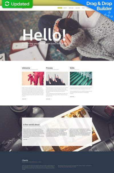 Photographer Portfolio Photo Gallery Template #56006