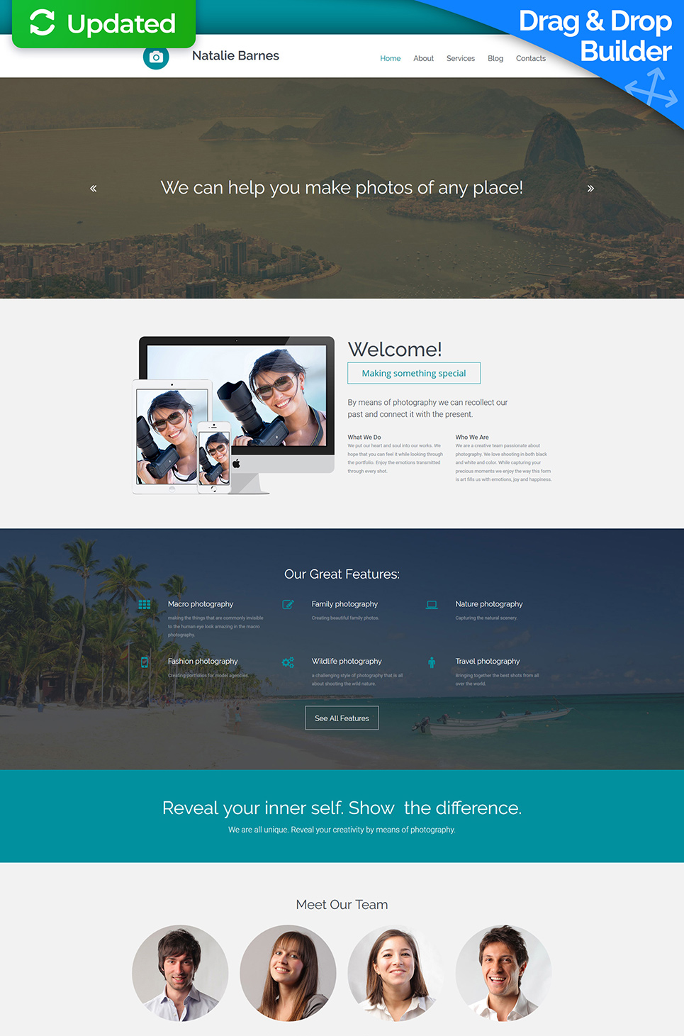 clean photographer portfolio joomla template 45872 photographer portfolio responsive photo gallery template
