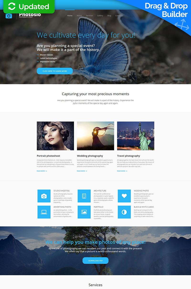 Plantilla Para Galería De Fotos #56008 para Sitio de Estudios fotográficos - captura de pantalla