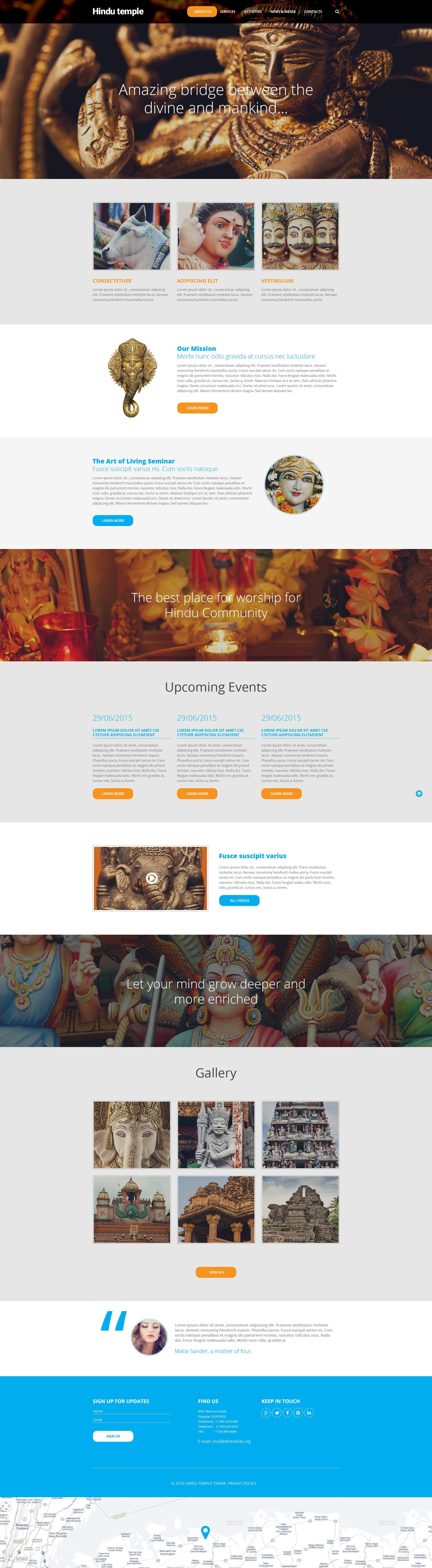 Plantilla Web #56030 para Sitio de Hinduismo