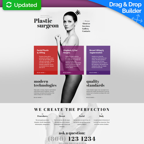 Plastic Surgeon - MotoCMS 3 Template based on Bootstrap