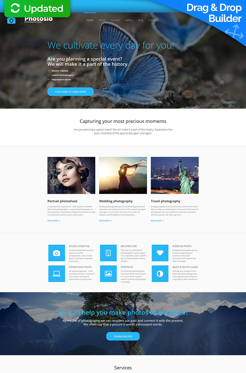 Premium Foto Galerij Template over Fotoatelier №56008