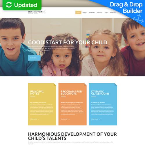 Elementary School - MotoCMS 3 Template based on Bootstrap