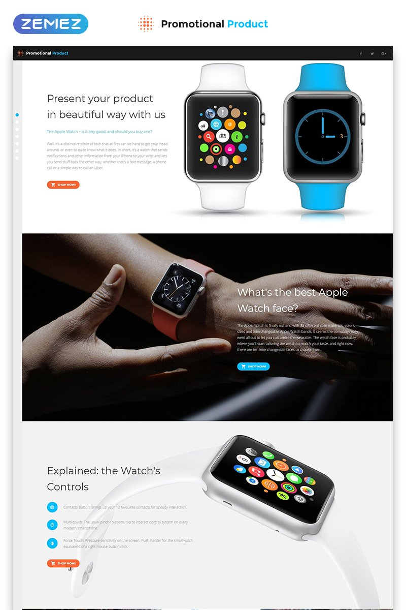 Promotional Product - Electronics Review Creative HTML Landing Page Template