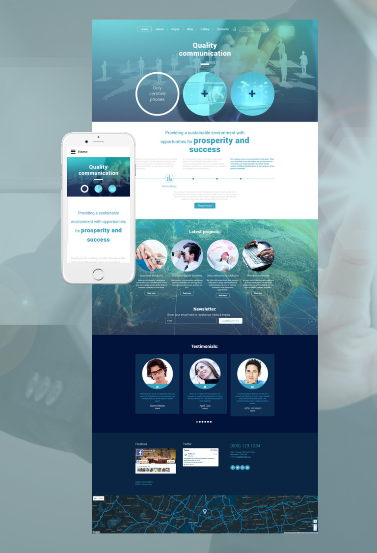 Quality Communication Joomla Template New Screenshots BIG