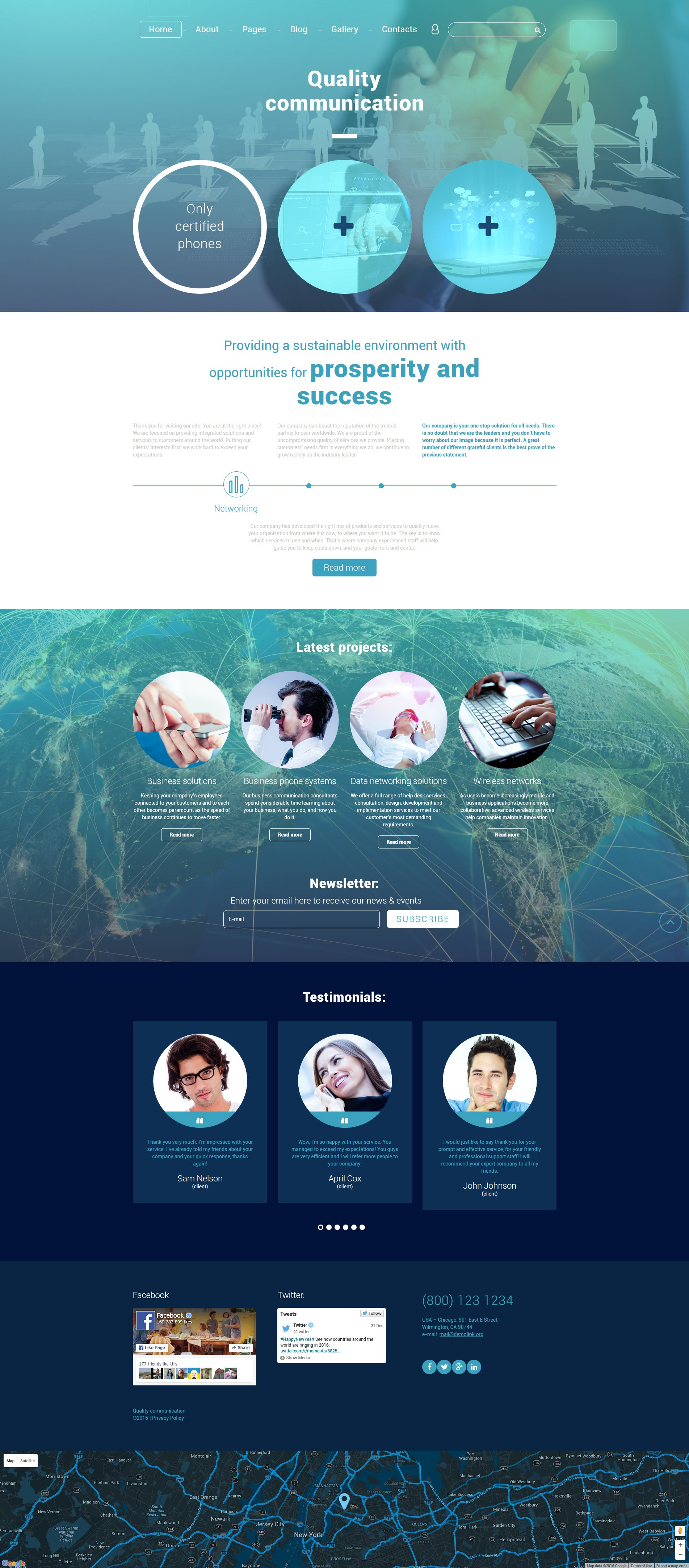 Quality Communication Joomla Template