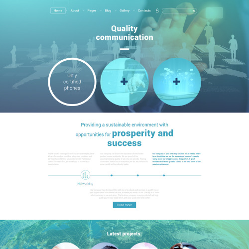 Quality Communication - Joomla! Template based on Bootstrap