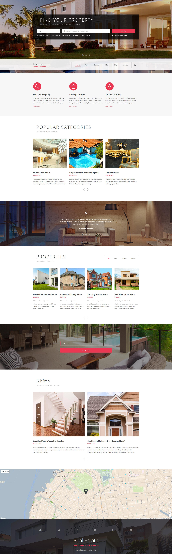 Real Estate Agency Responsive Website Template - screenshot