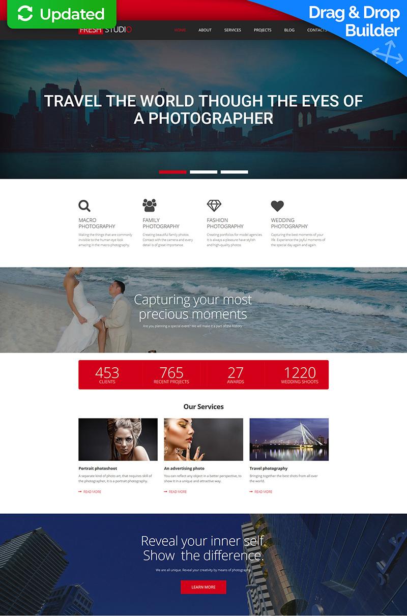 Responsive Foto Galerij Template over Fotoatelier №56004