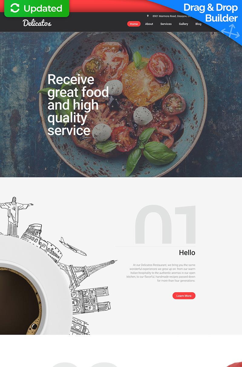 Responsive Moto CMS 3 Template over Italiaans restaurant №56064